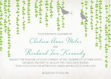 """Mid-Summer Afternoon"" wedding invitation from Kleinfeld Paper. Customize yours with Paper Passionista."