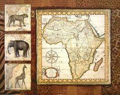 Tava-Studios-Journey-to-Africa-I-Fertig-Bild-55x70-Wandbild-Afrika-Landkarte