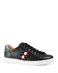 Gucci New Ace Lace Up Sneakers | Bloomingdale's