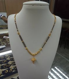 Image may contain: jewelr y Gold Mangalsutra Designs, Gold Earrings Designs, Necklace Designs, Gold Necklace Simple, Gold Jewelry Simple, Dainty Necklace, Dainty Jewelry, Necklace Set, Gold Chain Design