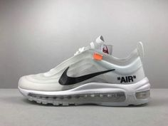Pas Cher Unisex Off-White blanc x Nike Air Max 97 Grey White blanc Black  Noir Youth Big Boys Shoes 297bb9f98