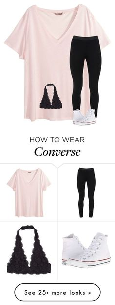 """""""HALPY BIRTHDAY LILLY """" by katherinecat14 on Polyvore featuring H&M, Peace of Cloth and Converse"""