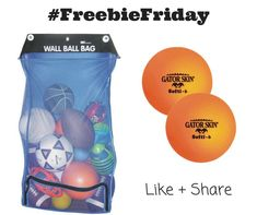 Happy #FreebieFriday! Visit our Facebook page to enter to win an @SSWorldwide Cart and Wall Ball Bag plus two #GatorSkin®️ Neon Orange Softi-6 Balls for #physed