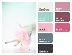 whispy pastels wedding nursery little girl baby room precious pink aqua maroon slate #chipit Paint colors from Chip It! by @Sherwin Huang Huang-Williams
