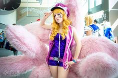 Entry #074: Liza Perkins  Character: Popstar Ahri, from League of Legends Cosplayer page: Sukoshi Cosplay  Tails made by Liza in under 3 days.  Vote for this entry by liking, commenting, and sharing this post! Contest Details: https://www.facebook.com/MiccostumesCosplayShop/posts/996975130341783