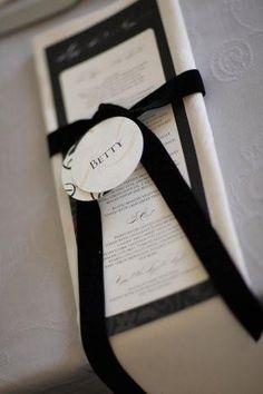 Wedding menu by http://www.secretdiary.co.za #weddingmenu #weddingstationery