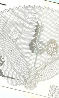 Photo from album Mailles № 33 on Yandex. Crochet Birds, Easter Crochet, Crochet Round, Crochet Home, Thread Crochet, Crochet Flowers, Knit Crochet, Crochet Tablecloth, Crochet Doilies