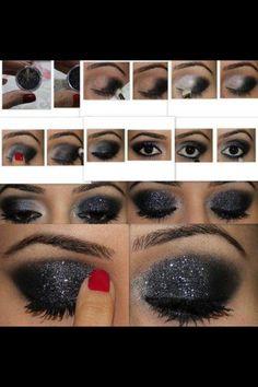 Black eyeshadow look @Earla Feldman Feldman Mahkee Bold black eyeshadow #makeup for you! #MakeOverBar