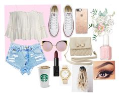 """""""Summer day look"""" by michelle-ale-becerra on Polyvore featuring Sans Souci, Converse, Charlotte Russe, Casetify, Fendi, NARS Cosmetics and Chico's"""
