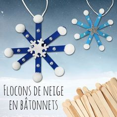 Flocons de neige en bâtonnets – Noël For this easy and fun Christmas DIY we will use wooden ice sticks … Christian Christmas Crafts, Christmas Arts And Crafts, Handmade Christmas Decorations, Teacher Christmas Gifts, Handmade Christmas Gifts, Kids Christmas, Christmas Snowflakes, Baby Crafts, Crafts For Kids