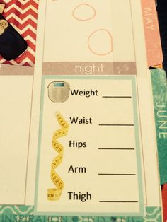 Custom Weight Loss Weekly Tracking Sticker for Erin Condren Live Planner