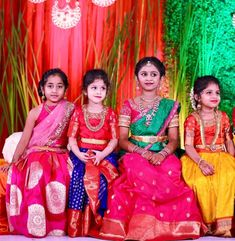 Hiya Reddy's Magnificent Half Saree Ceremony As Grand As A Wedding Wedding Dresses For Kids, Dresses Kids Girl, Kids Outfits, Baby Dresses, Kids Lehenga Choli, Half Saree Lehenga, Sarees, Kids Indian Wear, Kids Ethnic Wear
