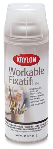 Workable Matte Fixative - clear finish prevents smudging of soft art materials like pencil and pastel.