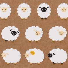 cute sheep stickers from Japan