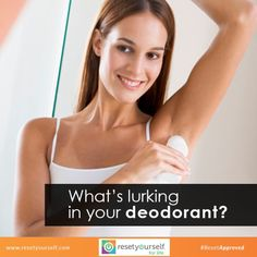 As much as possible, use natural deodorants that stop sweating and body odor without putting your health at risk. #ResetTips #PureDeodorant #organic #beautytips #skincare #stopbodyodor