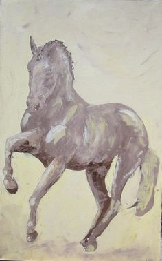 Dressage Horse Painting via Etsy.