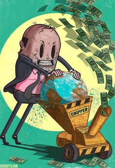 1-society-cartoons Anything for more dollars   Read More: http://www.trueactivist.com/disturbing-yet-accurate-illustrations-that-portray-the-absurdities-of-modern-society-gallery/21