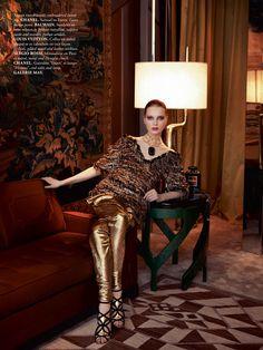 Dasha Goldina By Stefania Paparelli For Madame Air France December/January2013.14 - 3 Sensual Fashion Editorials | Art Exhibits - Anne of C...