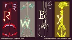 RWBY: the weapons