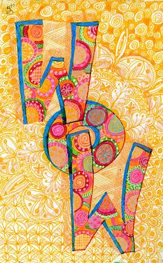 WOW by jessica.sporn, via Flickr Word Mosaic, Art Journal Pages, Journal 3, Art Journaling, Terms Of Endearment, Thought Bubbles, Creative Lettering, Doodles Zentangles, Small Art