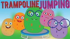 Potato Family Jumping on the Trampoline Finger Family Song for Children