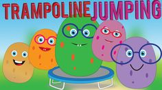 Potato Family Jumping on the Trampoline Finger Family Song for Children