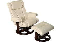 picture of Harold Ivory Chair & Ottoman  from Chairs Furniture