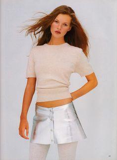 UK Vogue December 1993 More Dash for Cash Ph: Kim Knott Model: Kate Moss Fashion Editor: Lucinda Chambers Hair: James Brown Makeup: Dick Page