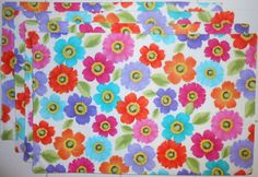 Scattered Flowers 4pc Placemat Set by ColdStreamCrafts on Etsy