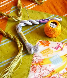 Hand Quilting with Perle Cotton ... picture tutorial from Anna Maria Horner