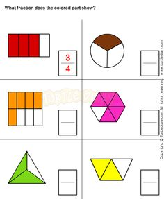 Fun Fraction Worksheets for Kids 2nd Grade Worksheets, Free Kindergarten Worksheets, Worksheets For Kids, Printable Worksheets, Fractions For Kids, Math Fractions, Math For Kids, Math Games, Math Activities