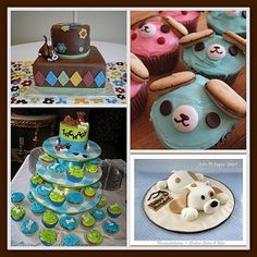 Puppy Baby Shower Cakes | Adorable puppy and dog cakes or cu… | Flickr