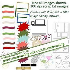 """PDN for Digital Scrapbooking free elements from my FREE Christmas digital scrap kit.  No strings. It's there for you to download whenever you want. No time limits, no """"like me"""", no asking for your email, just free. It's that simple."""