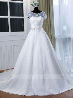 Illusion Bateau Neckline Lace Deb Dress W1006DB - Front