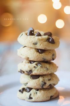 Chocolate chip cake mix cookies. Love to use cake mix because they make deliciously soft cookies!