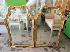 Hollywood Regency Style Mirrors...want!