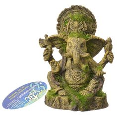 Exotic Environments Ganesha Statue with Moss Aquarium Ornament - x x Highly detailed aquarium ornamentLong-lasting resin materialSafe for all aquariums & terrariums Aquarium Lamp, Nano Aquarium, Aquarium Fish, Planted Aquarium, Aquarium Ornaments, Aquarium Decorations, Fish Tank Accessories, Saltwater Tank, Rock Decor