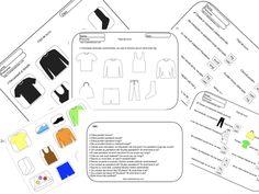 Obiecte vestimentare + idei. Găsește umbra, decupează, lipește, citește, colorează. Dezvoltarea limbajului.