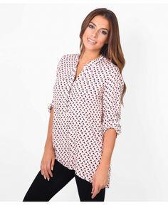 1deb1d0837 £8.00 KRISP Roll Up Sleeve Printed Blouse code 5491  shirt  krisp