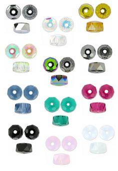 Nouvelle taille de rondelles en cristal taillé Swarovski 5045 : 6 mm ! A shopper à partir de 1,80€ >>> http://www.perlesandco.com/Perles_5045_Rondelles-c-24_997_3196.html
