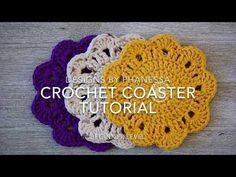 Crochet Coaster Tutorial - YouTube