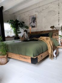 Room Ideas Bedroom, Home Decor Bedroom, Diy Bedroom Projects, Wooden Furniture Bedroom, Tuscan Bedroom, Wooden Beds, Bedroom Rustic, Bedroom Modern, Decor Room