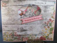 Pig front and back sku # U1719 . Art Impressions Fronts & Backs. birthday card