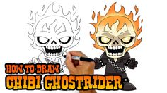 how to draw ghostrider marvel comics