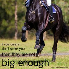 Horse quote | If your dreams don't scare you then they are not big enough!