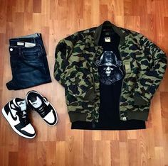 Outfit grid - Camo jacket