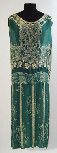 1920's Dress... looks like  iron gate-work...