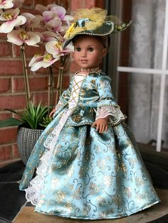 Debs Christmas Cream Gold ANGEL Costume Dress Doll Clothes For 18 American Girl