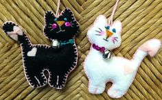 Meow! Felt Kitties- artwork by Laura Hill