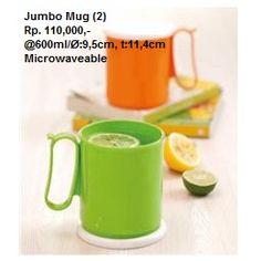 Nama Produk: Jumbo Mug (2) | Tupperware Bogor | Katalog Tupperware Indonesia Harga: Rp. 110,000,- Ukuran: Ø:9,5cm, t:11,4cm, Kapasitas: @600ml Stars: 30 STARS  Deskripsi: Microwaveable, bisa untuk menghangatkan makanan di dalam microwave. Tupperware Bogor | Katalog Tupperware Indonesia Reguler
